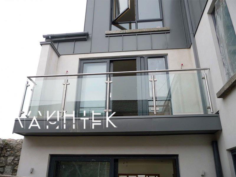 Балконное ограждение со стеклом